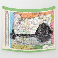oregon Wall Tapestries featuring Oregon by Ursula Rodgers