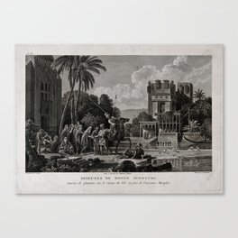 Egyptian Fortune-tellers Outside a Palace Canvas Print