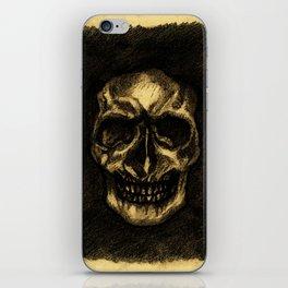 Dev0uring Death - Skull Illustration iPhone Skin