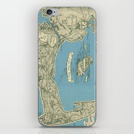 Vintage Map of Cape Cod (1945)  iPhone Skin