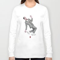 pee wee Long Sleeve T-shirts featuring Pee Wee Herman #2 by Christian G. Marra