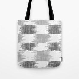 Modern black gray white ikat pattern Tote Bag