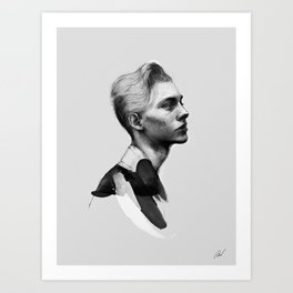 Portrait of a man No.5 Art Print