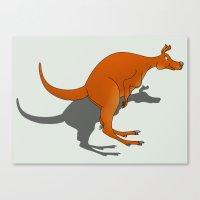 kangaroo Canvas Prints featuring Kangaroo by mailboxdisco