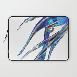 Abstract Blue And White Art - Flowing 5 - Sharon Cummings Laptop Sleeve
