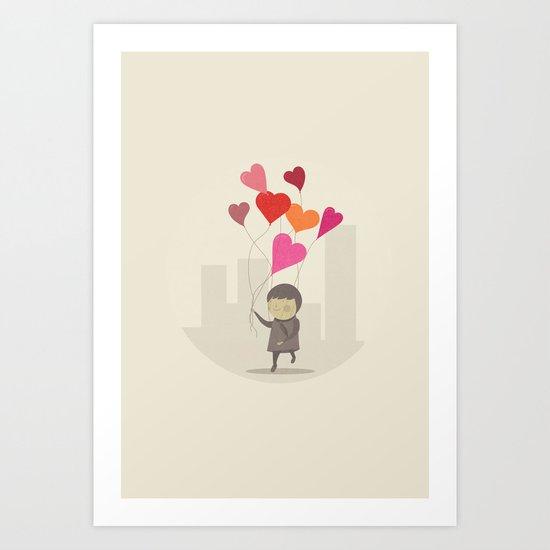 The Love Balloons Art Print