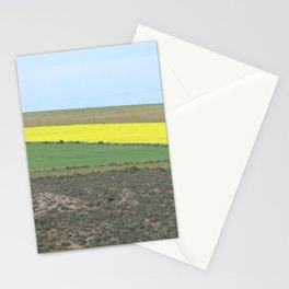 Green and Yellow Fields Spring Landscape, South Africa Stationery Cards