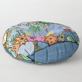 Man on a hamac Floor Pillow