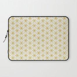 Flower of Life Pattern – Gold & White Laptop Sleeve