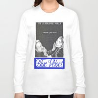 casablanca Long Sleeve T-shirts featuring BLUE VELVET hand drawn movie poster in pencil by The Exiled Elite