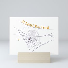 At Least You Tried - Bee Caught in a Web Mini Art Print