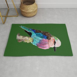 Lilac Breasted Roller Bird Rug