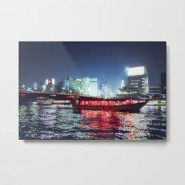 Tokyo River  Metal Print
