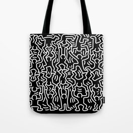 Figures Variation Keith Haring Black Tote Bag