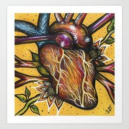 Blossoming Heart Art Print