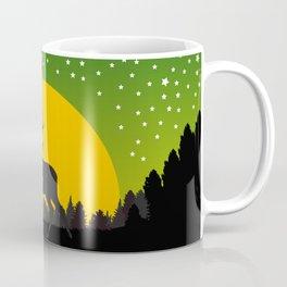 Deer Stars Moon Coffee Mug