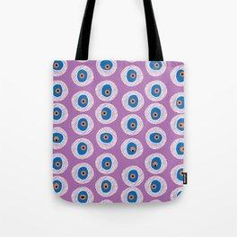 Evil Eye Charm - Radiant Orchid  Tote Bag