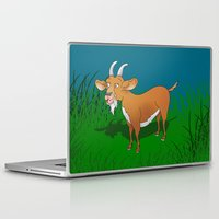 goat Laptop & iPad Skins featuring  Goat  by mailboxdisco