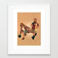 big lebowski Framed Art Prints featuring Big Lebowski by Dave Collinson