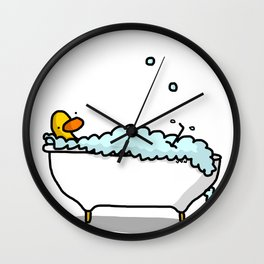 Tub Time Wall Clock