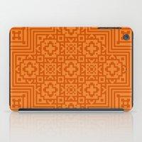 orange pattern iPad Cases featuring Orange Pattern by White Wolf Wizard