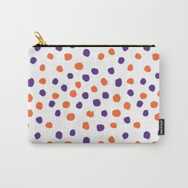 Orange and purple clemson polka dots university college alumni football fan gifts Carry-All Pouch
