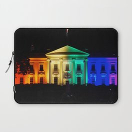 The White House in Rainbow Colors Laptop Sleeve