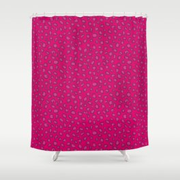 Animal print: Leopard pink Shower Curtain