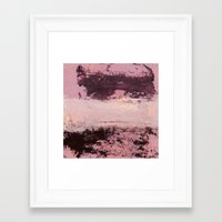 burgundy Framed Art Prints featuring burgundy rose by patternization