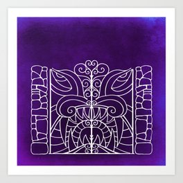 Threshold Guardian (purple) Art Print