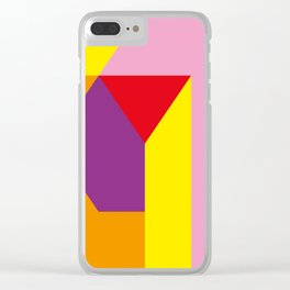 Geometrical, random, colorful, triangles, diagonal, etcetera.... No ideas for a title right now... s Clear iPhone Case