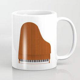 Grand Piano with Wood Finish Coffee Mug