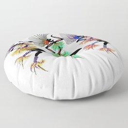 MARDI GRAS GIRLS 3 Floor Pillow