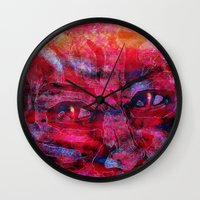 twilight Wall Clocks featuring Twilight by Joel Mata