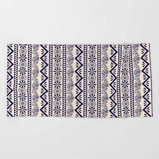 pattern art curtain Beach Towel