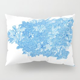 March's Blue 7 | Artline Drawing Pens Sketch Pillow Sham