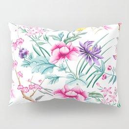 Chinoiserie Decorative Floral Motif Pillow Sham