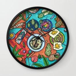 Ocean Grown : Cannabis Altar III Wall Clock