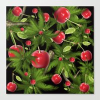 cherry Canvas Prints featuring cherry by mark ashkenazi