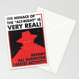The Menace of the Alt-Right is Very Real! Stationery Cards
