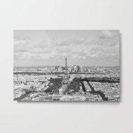Eiffel Tower from Montparnasse Tower in Paris Metal Print