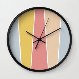 Sunday Morning Color Block Wall Clock