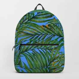 Palm leaves against the sky Backpack