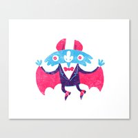 bat Canvas Prints featuring Bat by David Fernández Huerta