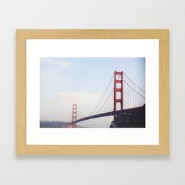 Golden Gate at dusk Framed Art Print