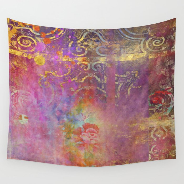 Boho Rose Wall Tapestry