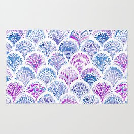 OCEAN PROTECTRESS Lavender Mermaid Scales Rug