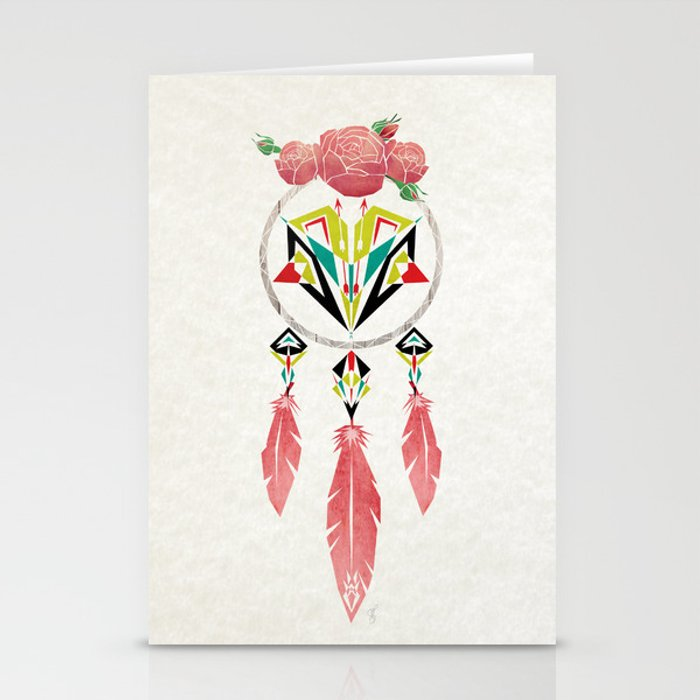 dream flowers Stationery Cards