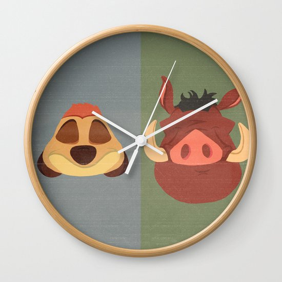 Timon and Pumbaa Wall Clock