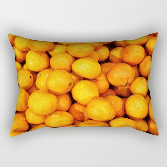 Mandarin, tangerine Rectangular Pillow